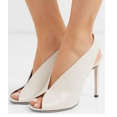 Shop Women's Jimmy Choo Cream White size Heels at a discounted price at Poshmark. Description: See pic for description. Stiletto Heels, High Heels, Peep Toe Pumps, Women's Pumps, Shoe Boots, Shoes Heels, Bow Heels, Buy Shoes, Jimmy Choo Shoes