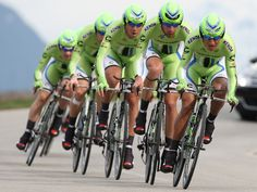 Cyclists of Cannondale Pro Cycling Team with leader Ivan Basso ride during the team time trial of the 'Giro del Trentino' cycling race in Lienz, Austria. Pro Cycling, Cyclists, Bikers, Austria, Bicycle, Racing, Events, Sports, Bicycle Kick