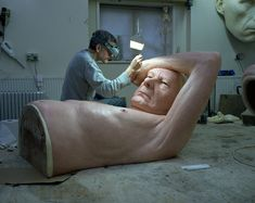 ron mueck's figurative sculptures at fondation cartier, paris
