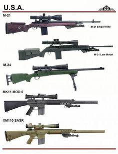 USA different types of sniper guns Military Weapons, Weapons Guns, Airsoft Guns, Guns And Ammo, Armas Ninja, Timberwolf, Battle Rifle, Assault Rifle, Cool Guns