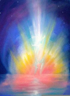moving the soul with color - inviting Spirit - and paintings Wet On Wet Painting, Sun Painting, Painting & Drawing, Rudolf Steiner, Lazure Painting, Ciel Rose, Spiritual Paintings, Watercolor Paintings For Beginners, Prophetic Art