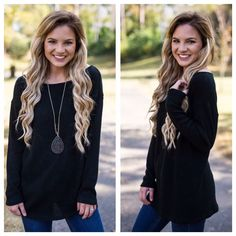 Dream On Sweater in Black