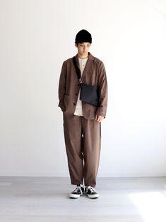 Japan Men Fashion, Mens Fashion, Fashion Outfits, Japan Street Fashion, India Fashion, Minimal Outfit, Minimal Fashion, Mens Casual Suits, Look Man