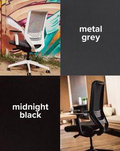Midnight black or metal grey? Coworking Space, Easy, Meet, Black, Modern Office Spaces, Modern Living, Workplace, Black People