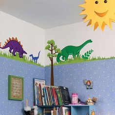 Dinosaur Wall Stickers REMOVABLE Nursery Kids Boys Room Vinyl Decals | Dinosaur  Wall Stickers, Kids Boys And Wall Sticker
