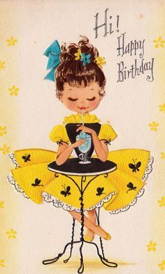 Beautiful lady post card Happy birthday - Yahoo!検索(画像)