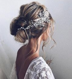 for long Wedding Hair Accessories Bridal Hair Vine Bridal Hair Clip Wedding Headpiece Wedding Hair Piece Bridal Hair Pieces Hair comb Elegant Wedding Hair, Wedding Hair Clips, Wedding Hair Pieces, Trendy Wedding, Elegant Bride, Wedding Makeup, Bohemian Updo Wedding, Boho Wedding Hair Half Up, Bridal Makeup
