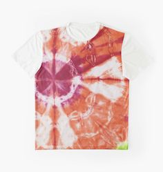 Mango Bloom Printed Shirt by PolkaDotStudio, #mango, #lime #magenta hand #tie #dyed #abstract #Bohemian #Indonesian inspired  #engineered #art on #trendy #fashion #apparel #tops #shirts for #leisurewear #party #original artist signed #gifts.