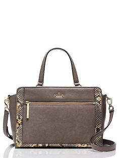 Kate Spade New York Chatham Lane Harlan Leather Satchel Handbag New NWT  ($398) #katespade #Satchel