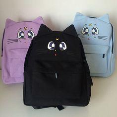 SpreePicky - Black/Purple/Blue [Sailor Moon] Luna Artemis Backpack SP154110