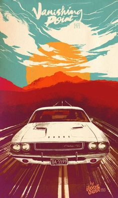Poster design by vanishing point