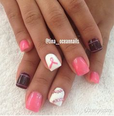 Nfl breast cancer nails