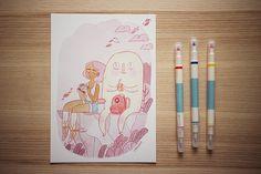 Hiking buddies - giclee print (8.00 GBP) by frannerd