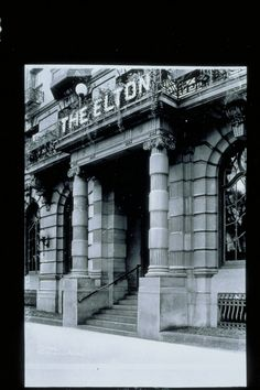Image 2- Entrance to the Elton, 38 West Main Street, Waterbury | Connecticut History Illustrated Accession number X.2000.35.227 2821 img0015.pcd Waterbury Connecticut, Connecticut History, Digital Archives, Main Street, Big Ben, Entrance, Maine, America, Number