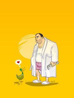Tony Soprano (and those ducks!)