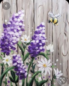 40 Easy Acrylic Canvas Painting Ideas for Beginners by Rene Arehart Ackley Lilac Painting, Acrylic Painting Flowers, Simple Acrylic Paintings, Diy Painting, Rock Painting, Sports Grill, Sketching Techniques, American Sports, Backyard Fences