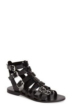 Topshop 'Favorite' Flat Gladiator Sandal (Women) available at #Nordstrom