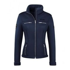 Soft shell style. Fitted jacket, with lots of subtle detail for an amazing flattering fit