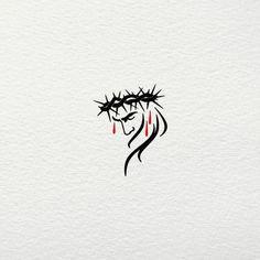 Catholic Tattoos, Biblical Tattoos, Cross Tattoo For Men, Cross Tattoo Designs, Jesus On Cross Tattoo, Jesus Tatoo, Simple Cross Tattoo, Tattoo Couronne, Croix Christ