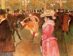 En el Moulin Rouge: El Baile (1890) Henri Toulouse-Lautrec