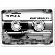 DJ Cassette Tape Mixtape - Customized