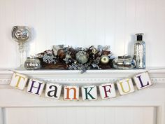 Thanksgiving Decorations Banner - Thankful banner - Thanksgiving Decorations - Holiday Dectorations - Thanksgiving decor on Etsy, $17.00