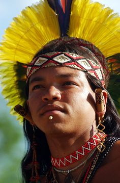 Pataxó tribesman, Brazilian Indian Tribe     www.agenciabrasil.gov.br/media/imagens