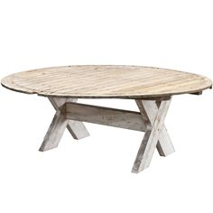 1stdibs - Monumental Primtive Round Dining Table explore items from 1,700  global dealers at 1stdibs.com