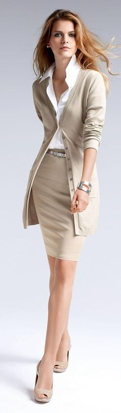 29 Stylish And Edgy Work Outfits 2019 If this isn't a great office outfit then I don't know what is. Wow:) Neutrals come alive:) The post 29 Stylish And Edgy Work Outfits 2019 appeared first on Sweaters ideas. Edgy Work Outfits, Mode Outfits, Office Outfits, Fashion Outfits, Office Wear, Skirt Outfits, Office Attire, Stylish Outfits, Casual Office