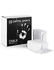 CAPITAL SPORTS Pridium Gym-Chalk Sport-Kreide für trockenen Hände und festen Griff für Kraftsport, Turnübungen oder Klettern (8 Block, 56 g je Kreideblock, Magnesium-Carbonat) Weiß