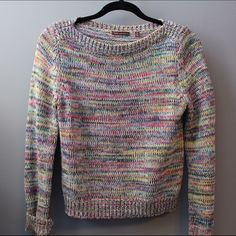 CUSP rainbow sweater barely worn 525 america Sweaters Crew & Scoop Necks