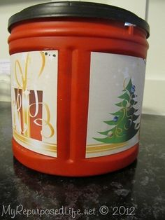 Repurpose Folger's Coffee Cans {make great storage containers} - My Repurposed Life™