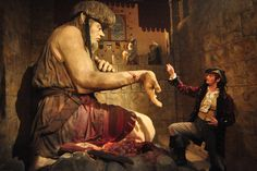 Meet some giant characters from Cornwall's past at Pirate's Quest, Newquay, Cornwall