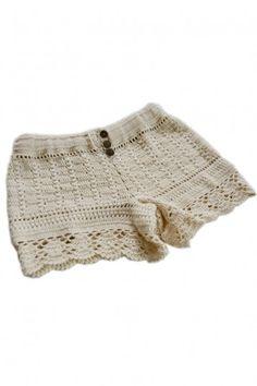 love these crochet shorts