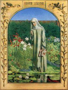 Lily Flower Charles Alston, La Madone, Pre Raphaelite Brotherhood, John Everett Millais, Modern Picture Frames, Academic Art, The Cloisters, John William Waterhouse, Degas
