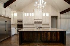 #dreamhome #interior #interiors #interiordesign #dfw #dallas #greenhome #customhome #architecture #kitchen #dreamkitchen #lighting #lightfixture #beam #openbeam #kitchensink #kitchenisland #refrigerator #fridge