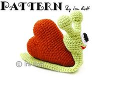 Cupid the Love Snail - $4.50 (CAD) by Ira Rott / Bugs Part 1 - Animal Crochet Pattern Round Up - Rebeckah's Treasures