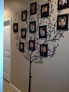 "This is kinda how I want my wall to look...I've been wanting a ""family tree"" on my wall for a long time!!"