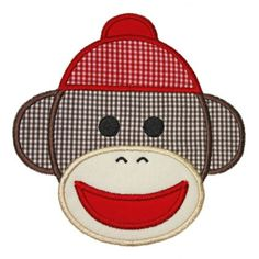 See It All :: Sock Monkey Applique - Embroidery Boutique