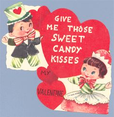 Hearts Atwirl  Vintage Valentine Cards from the early to mid 20th