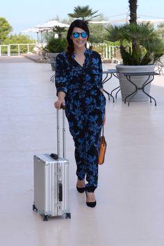 The Italian actress Valentina Lodovini arriving in Venice with her RIMOWA CLASSIC FLIGHT. :Montingelli