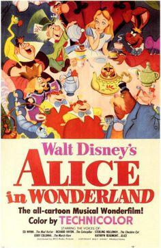 Alice in Wonderland TBT: See All 53 Walt Disney Animation Movie Posters Walt Disney Animation, Walt Disney Animated Movies, Animated Movie Posters, Disney Movie Posters, Best Movie Posters, Classic Movie Posters, Disney Movies, Vintage Movie Posters, Disney Wiki