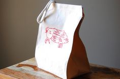 A lunch bag with a picture of a pig counts as food, right?
