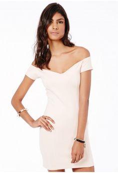 Shirley Bardot Bodycon Mini Dress - Mini Dresses - Dresses - Missguided