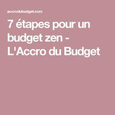 7 étapes pour un budget zen - L'Accro du Budget