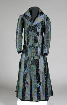 Man's 1840's dressing gown Litchfield Historical Society