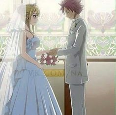 Wait a sec this looks too real... IT LOOKS TOO REAL Omg, I can totally imagine a scenario where Natsu said something like 'But if I love you we don't need to prove it and do official marriage' and Lucy's like 'Come on! I always wanted to marry like that, in a white dress...' and Natsu'll give in and make it the BEST WEDDING EVER!