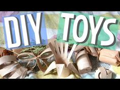 8 Paper Tube Small Animal DIY Toys! - YouTube