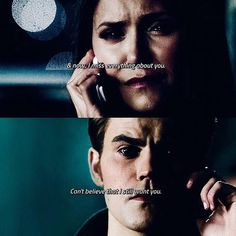"#TVD The Vampire Diaries  Elena & Stefan  ""& now.. I miss everything about you. Can't believe that I still want you."""