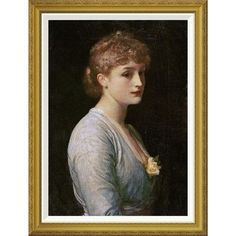 """Global Gallery 'Type of Beauty' by Lord Frederick Leighton Framed Painting Print Size: 36"""" H x 27.37"""" W x 1.5"""" D"""